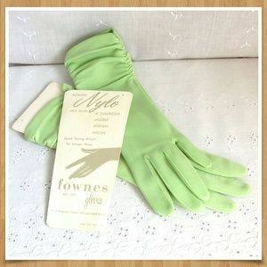 Vintage Nylon Gloves Green NOS